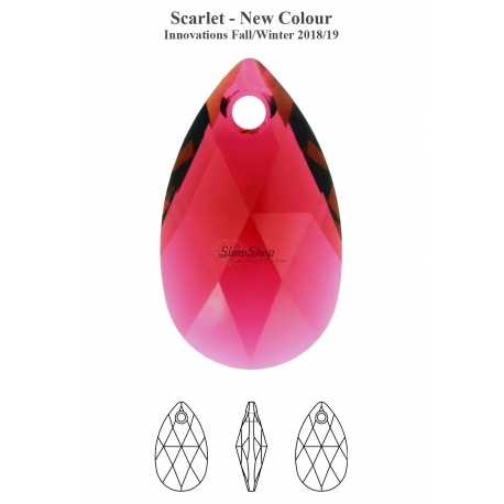 P3816-Swarovski Elements 6106  Scarlet 28mm-1buc