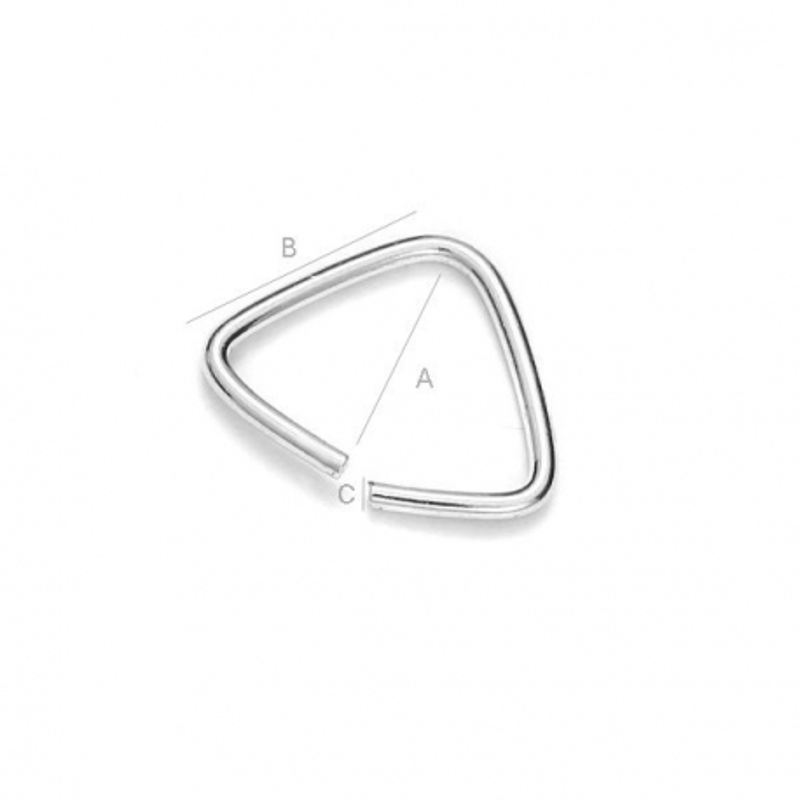 G0189-Agatatoare simpla triunghi 6mm 1 buc