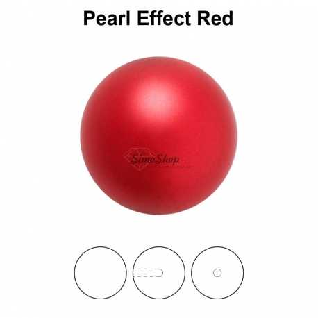 0244-Round Pearl Maxima 1/2H Red 8mm