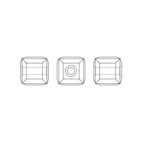 P2060-Swarovski Elements 2753 Crystal Silver Night Foiled 10mm