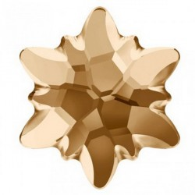 P2061-Swarovski Elements 2753 Crystal Golden Shadow Foiled 10mm