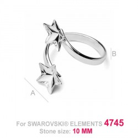 G0540-Inel dublu Swarovski Star 4745 10mm