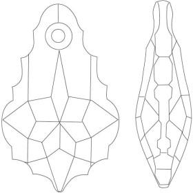 P2158-Swarovski Elements 1088 Tangerine Foiled SS34 7mm 1 buc