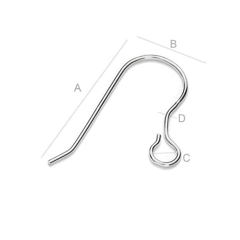 G0616-Zale simple argint 925 1.0x4.75mm sirma tare 1 buc