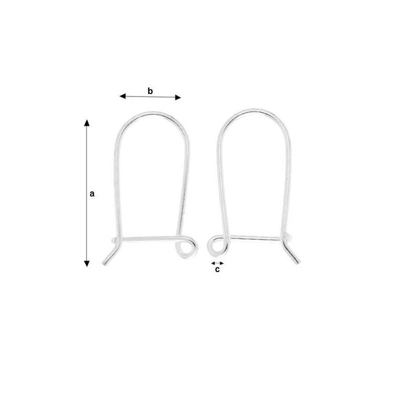 G0619-Link banut argint 14mm 0.5mm gauri 0.6mm