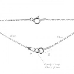 G1023-Lant anchor asimetric pentru link-uri 20+24cm 1 bucata