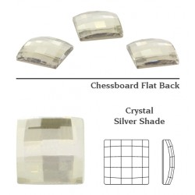 P2198-Swarovski Elements 2493 Chessboard Crystal Silver Shade HF 10mm