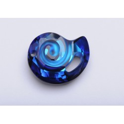 P2199-Swarovski Elements 6731 Bermuda Blue P 28mm