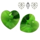 P0764-Swarovski Elements 6228 Fern Green 10mm-1 buc