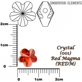 P2229-Swarovski Elements 5744 Red Magma 8mm 1 buc