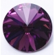 P0823-SWAROVSKI ELEMENTS 1122 Amethyst Foiled 14mm-1buc