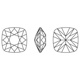 G738-Baza pandant 3 bucle pentru Swarovski Heart 2808 de 10mm