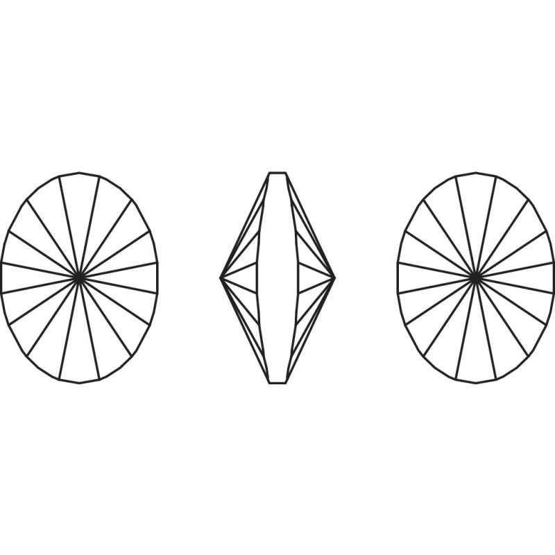 G0752-Tortita inchisa pentru Swarovski Heart 2808 de 6mm