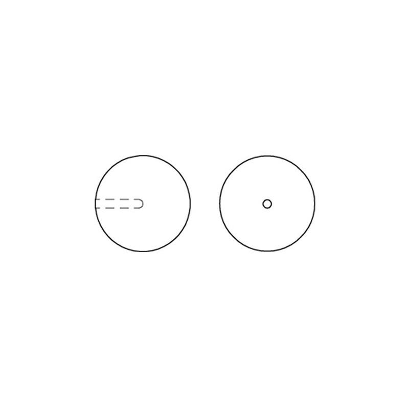 P2308-SWAROVSKI ELEMENTS 4470 Black Diamond Satin Unfoiled 10mm