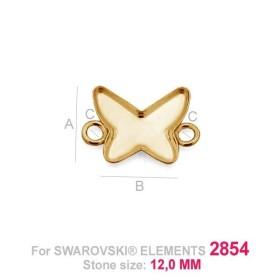 G0794-Link pentru 2858 Bow Tie 9x6.5mm 1 buc