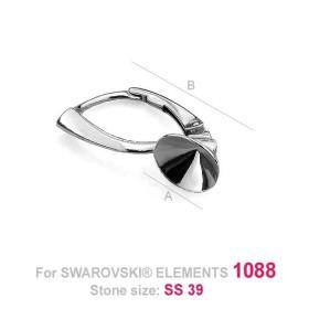 P2355-Swarovski Elements 2858 Crystal AB Foiled 9x6.5mm 1 buc