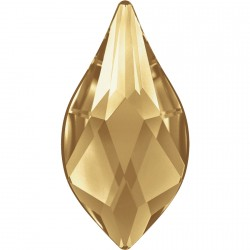 P2383-SWAROVSKI ELEMENTS 2205 Golden Shadow Foiled 10mm 1 buc