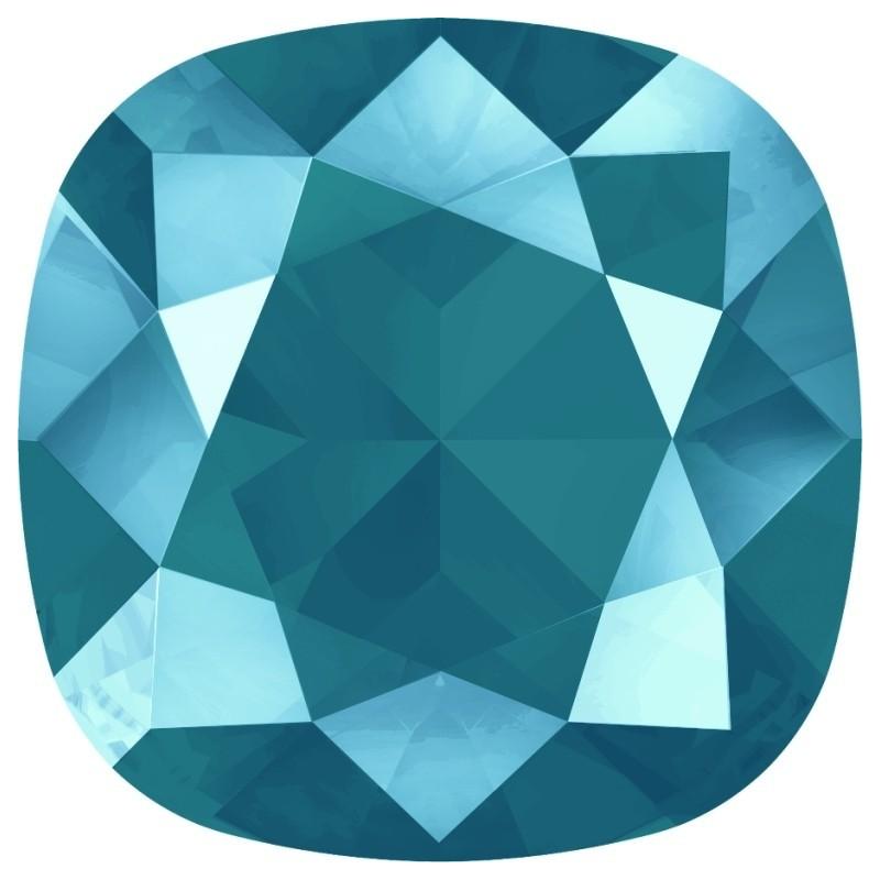 P2392-SWAROVSKI ELEMENTS 4195 Crystal Bermuda Blue Foiled 18mm