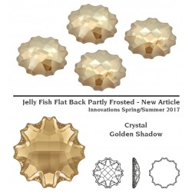 P2388-SWAROVSKI ELEMENTS 2612 Crystal Golden Shadow Foiled 10mm