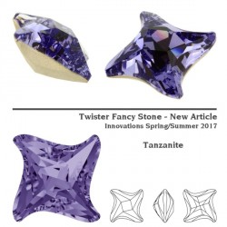 P2397-SWAROVSKI ELEMENTS 4485 Tanzanite Foiled 10.5mm 1 buc