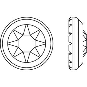 P2400-SWAROVSKI ELEMENTS 2612 White Opal Foiled 10mm