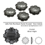 P2404-SWAROVSKI ELEMENTS 2612 Crystal Silver Night Foiled 10mm