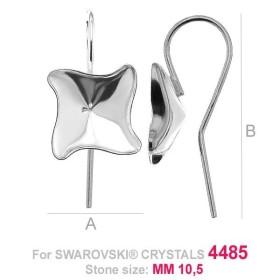 P2406-SWAROVSKI ELEMENTS 2612 Crystal Aurore Boreale Foiled 14mm