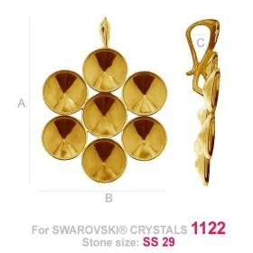 P2407-SWAROVSKI ELEMENTS 2612 Crystal Foiled 14mm