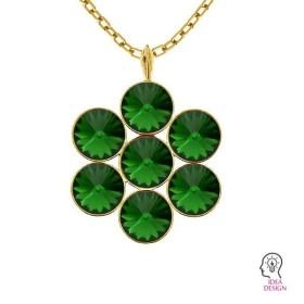P2408-SWAROVSKI ELEMENTS 2612 White Opal Foiled 14mm