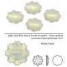P2408-SWAROVSKI ELEMENTS 2612 White Opal Foiled 14mm