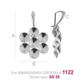 P2409-SWAROVSKI ELEMENTS 2612 Crystal Luminous Green Foiled 14mm