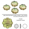 P2409-SWAROVSKI ELEMENTS 2612 Crystal Luminous Green Foiled 14mm