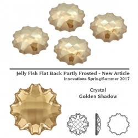P2413-SWAROVSKI ELEMENTS 2612 Crystal Golden Shadow Foiled 14mm