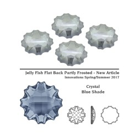 P2414-SWAROVSKI ELEMENTS 2612 Crystal Blue Shade Foiled 14mm