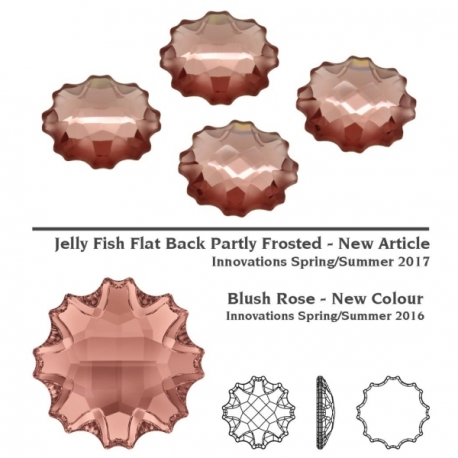 P2416-SWAROVSKI ELEMENTS 2612 Blush Rose Foiled 14mm