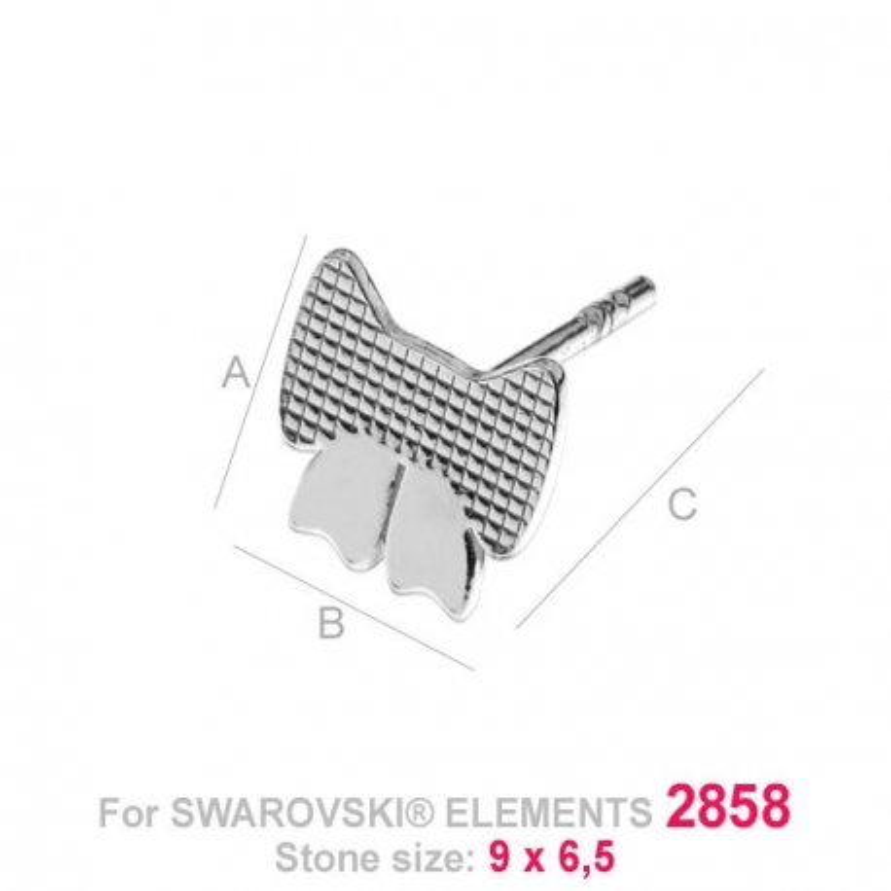 G0209-Tije pentru 2858 Bow Tie 9x6.5mm 1 buc