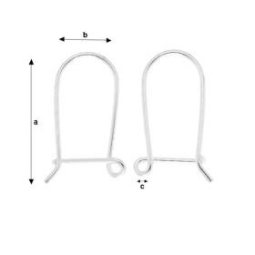 G651-Tije romb cu bucla Swarovski 4470 12mm Square Rhinestones