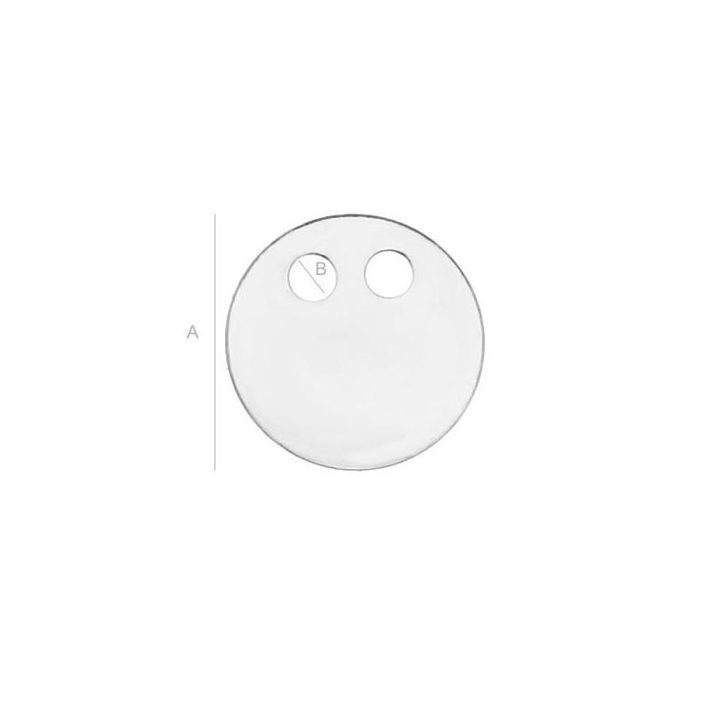 G0247-Baza inel triplu Swarovski Rivoli 6mm bordura joasa