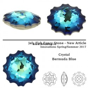 P2571-SWAROVSKI ELEMENTS 4195 Crystal Bermuda Blue Foiled 22mm