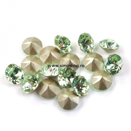 0761-Swarovski Elements 1028 Chrysolite Foiled PP9 1.5mm 50BUC