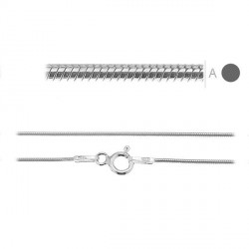 G1057-Colier lant Snake argint 925  0.9mm lungime 50cm