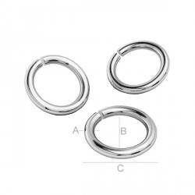 G0800-Zale argint 925 dimensiune 0.95x5.8mm interior 3.9mm