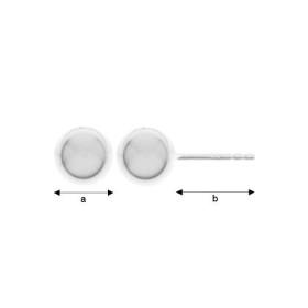 G0802-Zale argint 925 dimensiune 1.2x4.55mm interior 2.15mm