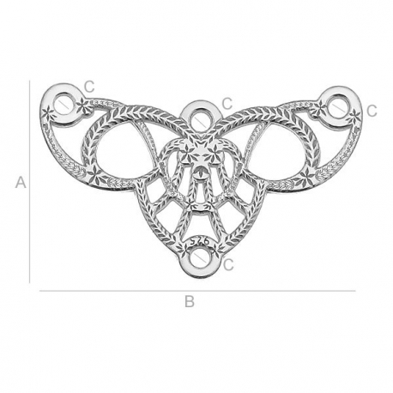 G0816-Chandelier argint 925 19.5x11.60 1 buc