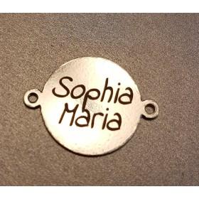G0817-Chandelier argint 925 semiluna STINGA+DREAPTA 33x20mm
