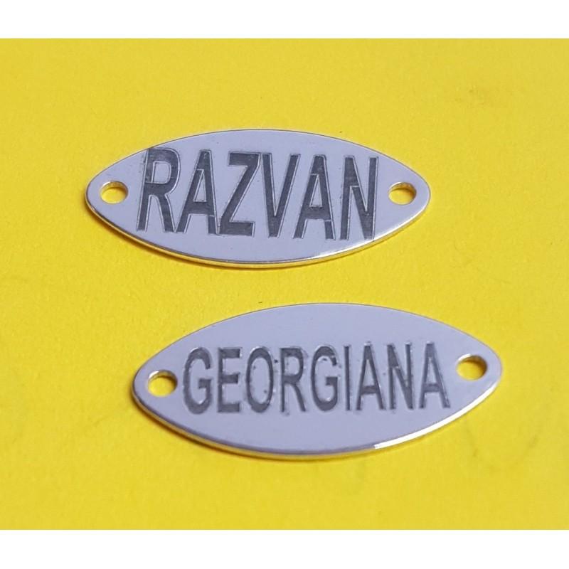 G0818 N Link charm decupat trifoi 13mm argint 925 1 buc