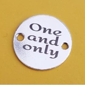 G0824-Link charm rotund LOVE 18mm argint 925 1 buc