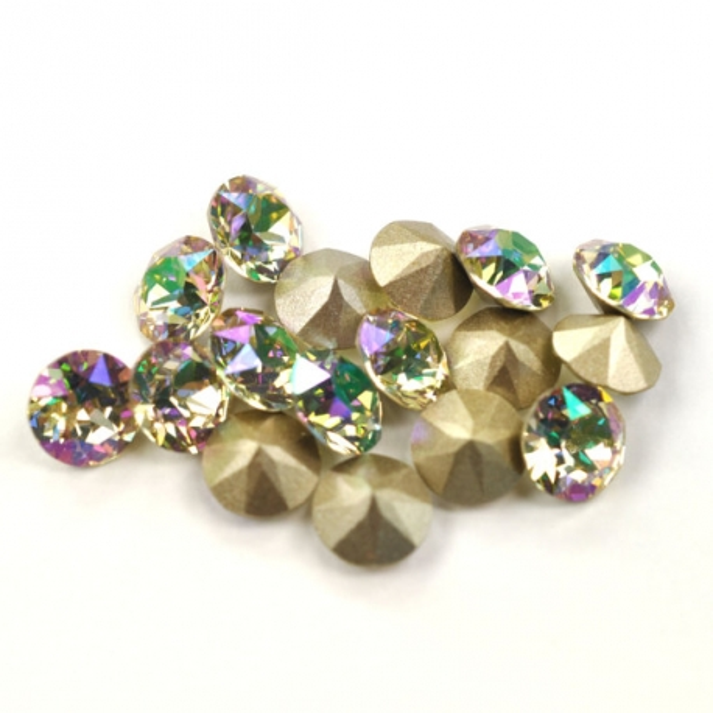 0846-Swarovski Elements 1028 Crystal Luminous Green F PP9 1.5mm 50BUC