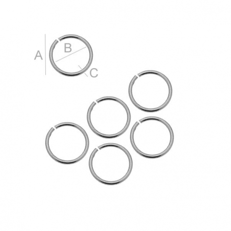 Zale argint 925 dimensiune 0.6x6.1mm interior 4.6mm