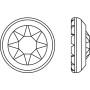 P2622-SWAROVSKI ELEMENTS 1122 Crystal Foiled SS47 11mm